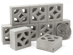 Mini Materials 1/12 Scale Mini Empress Breeze Blocks (9 Pack)