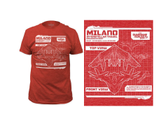 Marvel Guardians of the Galaxy Vol. 2 Milano Blueprint T-Shirt