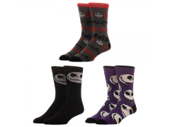 The Nightmare Before Christmas Crew Socks 3 Pack