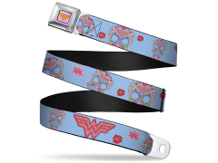 DC Comics Wonder Woman (Floral Skull) SeatBelt Buckle Belt