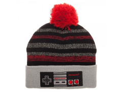 Nintendo Controller Embroidered POM Beanie