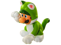 "World of Nintendo 2.50"" Limited Articulation Figure - Cat Luigi"