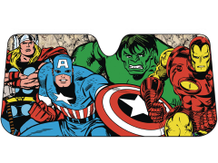 Marvel Comics Accordion Auto Sunshade - Retro Avengers
