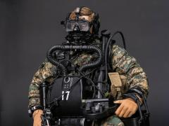 Marine Force Recon Combat Diver (Woodland MARPAT Ver.) 1/6 Scale Figure
