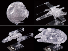 Star Wars Clear Vehicle Model Set of 4 1/2,700,000, 1/144 & 1/350 Scale Model Kit