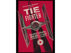 Star Wars Galactic Propaganda TIE Fighter Displate Metal Print