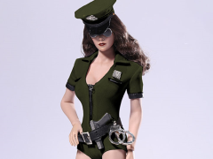 1/6 Scale Cosplay Police Woman Set - Green