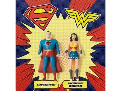 DC Comics Superman & Wonder Woman Bendable Figure Two Pack