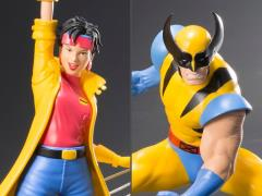X-Men '92 ArtFX+ Wolverine & Jubilee Statue Two-Pack