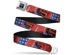 DC Comics Superman (Stars & Stripes) SeatBelt Buckle Belt
