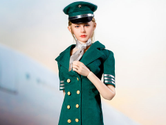Flight Attendant Dress (Green) 1/6 Scale Accessory Set