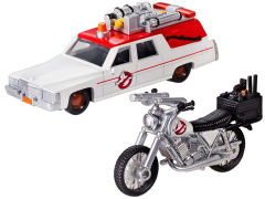 Ghostbusters Hot Wheels 1:64 Scale Ecto-1 & 1:50 Scale Ecto-2 Vehicle Two Pack
