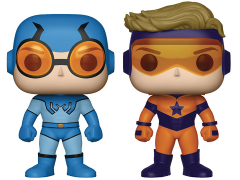 Pop! Heroes: Booster Gold & Blue Beetle Two Pack PX Previews Exclusive