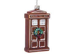 Doctor Who Gingerbread T.A.R.D.I.S. Glass Ornament