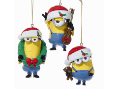 Despicable Me Blow Mold Minions Ornaments Set of 3