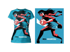 Marvel Ms. Marvel T-Shirt (Womens) (Michael Cho)