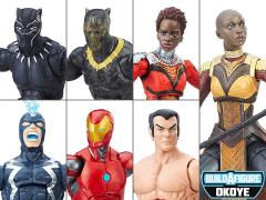 Black Panther Marvel Legends Wave 1 Set of 6 Figures (Okoye BAF)