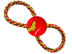 DC Comics Wonder Woman Rope & Tennis Ball Dog Toy