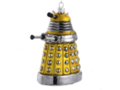 Doctor Who Yellow Dalek Glass Ornament