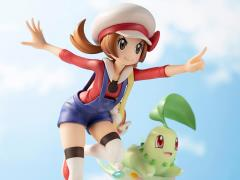Pokemon ArtFX J Lyra With Chikorita Statue