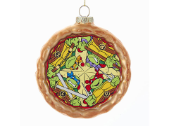 TMNT Glass Pizza Ornament