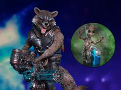 Guardians of the Galaxy Vol. 2 Battle Diorama Series Groot & Rocket 1/10 Art Scale Statue